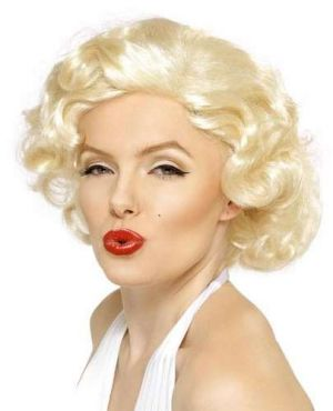 Ladies Marilyn Monroe Fancy Dress Wig Bombshell - Blonde
